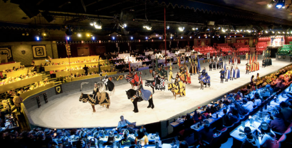 Families, groups, and history buffs alike will be sure to enjoy a trip to Medieval Times – the most ornate dinner theater in North America! A cast of 75 actors – including 20 horses – put on an impressive display of sport and theater as you dine on a medieval-inspired meal – all inside an 11th-century castle.