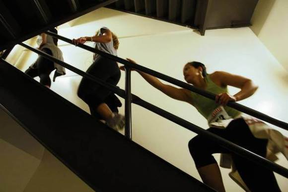 Stair climbs are growing in popularity in Los Angeles as fundraisers