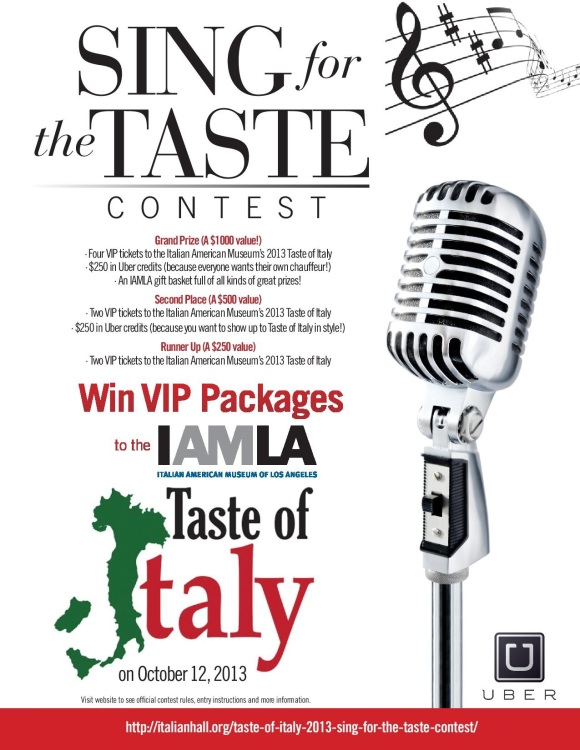 Sing for the Taste Flyer